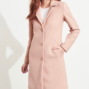 Hollister wool coat